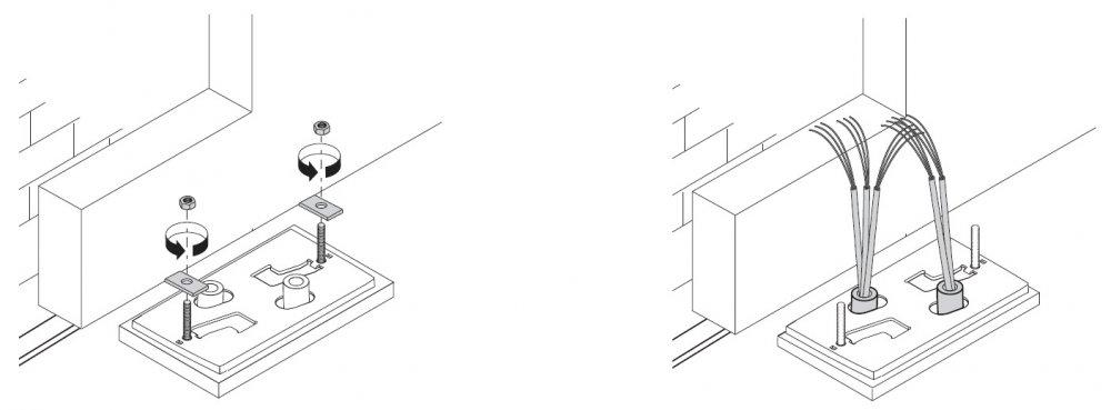 Zajištění desky a montáž sestavy pohonu BX 74-78
