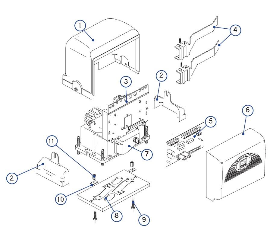 Popis jednotlivých částí pohonu BX 74-78