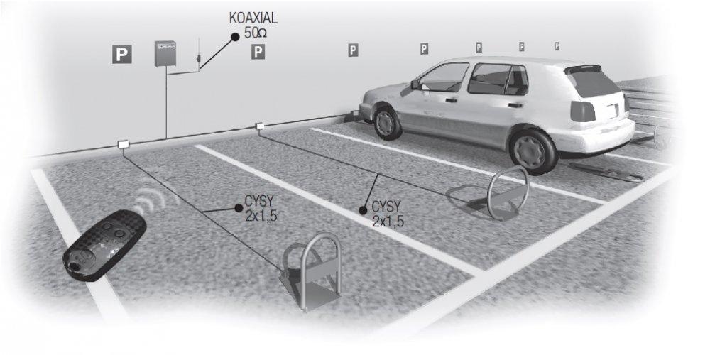 UNIPARK parkovací zábrana