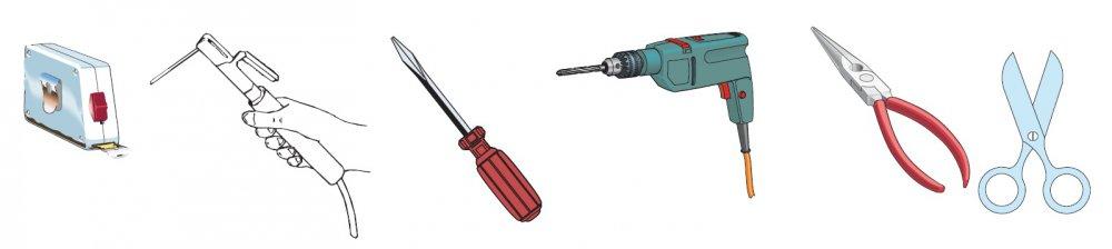 Nářadí a materiály pro instalaci pohonu BX 74-78
