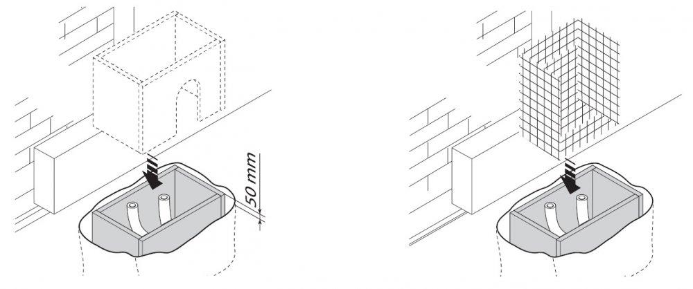 Zajištění desky a montáž sestavy pohonu BX 74-78,