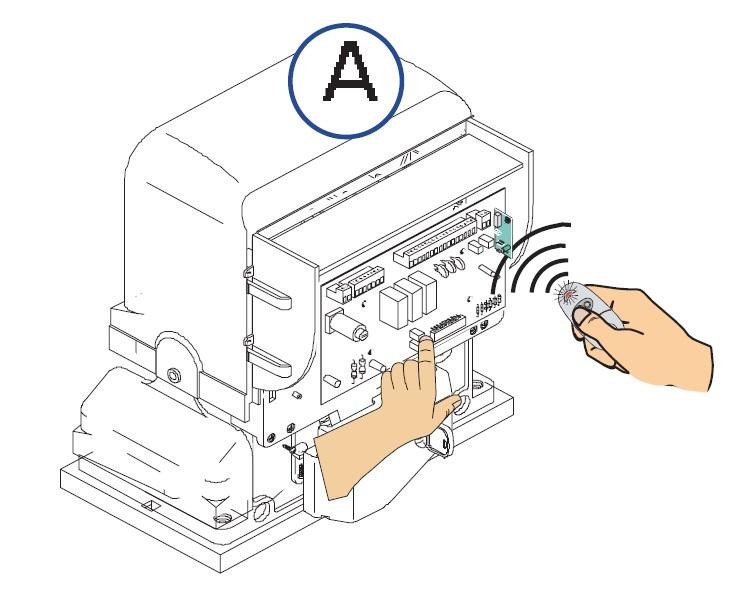 Připojení dvou propojených motorů pomocí samostatného příkazu