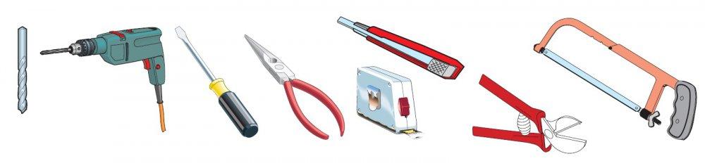 Nářadí a materiály pro instalaci bezpečnostní lišty
